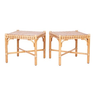 Ottomans or Foot Stools - A Pair For Sale