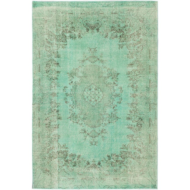 "Vintage Turkish Overdyed Rug - 7' x 10'5"" - Image 1 of 2"