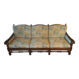 Vintage Ethan Allen Spanish Style Oak Couch