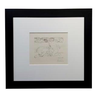 Pablo Picasso 1933 Vollard Series Minotaur Vaincu -Original Pencil Signed Etching For Sale