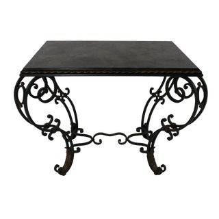 French Wrought Iron Table For Sale