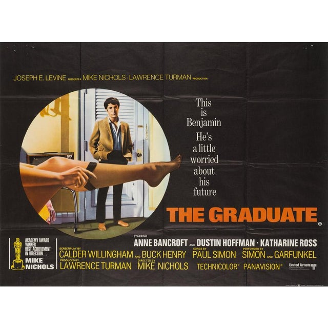 """This is Benjamin. He's a little worried about his future."" The Graduate, Mike Nichols' classic 1967 coming-of-age romp..."