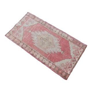 Hand Knotted Door Mat, Entryway Rug, Bath Mat, Kitchen Decor, Small Rug, Turkish Rug - 1′10″ × 3′4″ For Sale