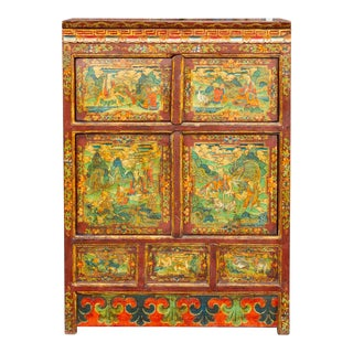 Early 20th Century Tibetan Cabinet For Sale