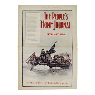 Antique February 1908 The People's Home Journal Magazine For Sale