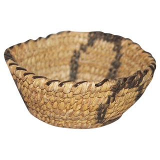 Amazing Miniature Papago Indian Basket For Sale