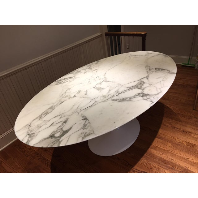 Knoll Carrera Marble Dining Table - Image 2 of 7
