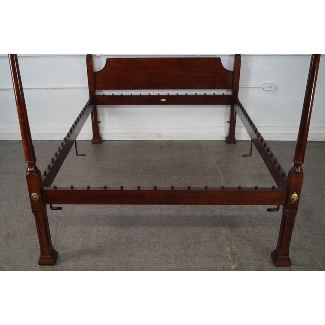 Kindel Queen Size Cherry Poster Canopy Bed - Image 10 of 10