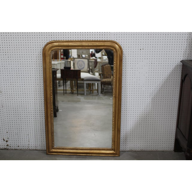 French Vintage Louis Phillipe Mirror For Sale - Image 3 of 3