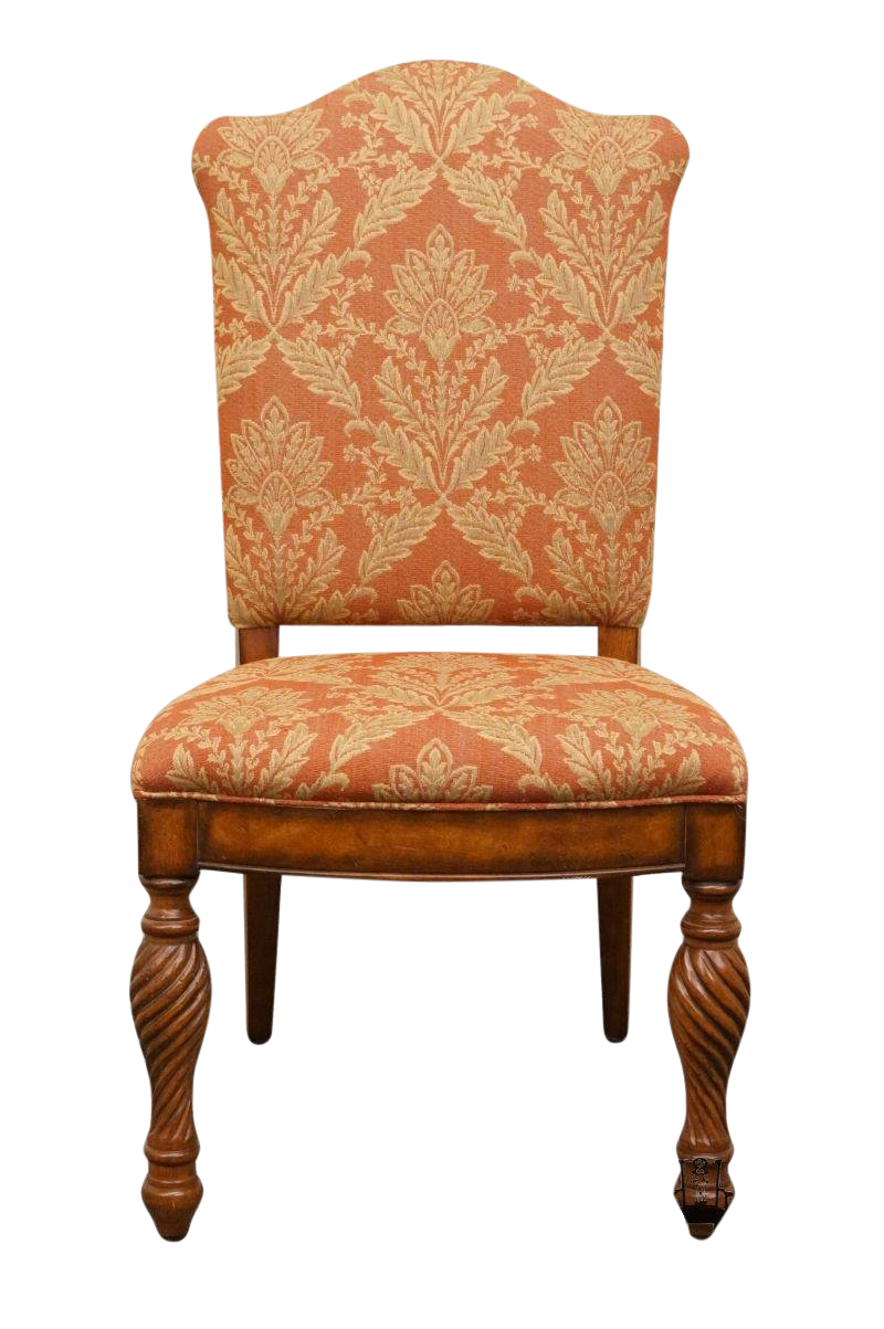 20th Century Traditional Hickory White Legends Collection Upholstered  Dining Side Chair