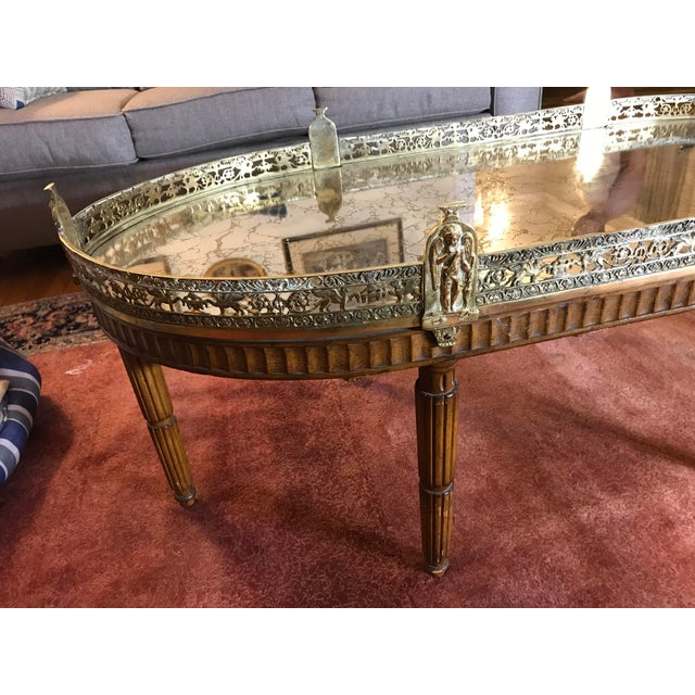 Silver Mid-Century Modern French Plateau Coffee Table For Sale - Image 8 of 9