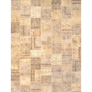 "Pasargad NY Beige Contemporary Patchwork Rug - 9'3"" X 12'1"" For Sale"