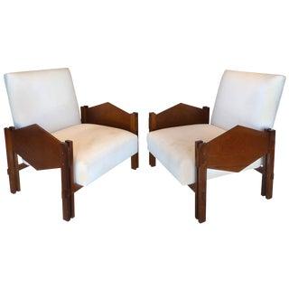 """Jose Zanine CaldasJacaranda """"Geometric"""" Armchairs, Brazil For Sale"""