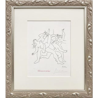"Picasso Pencil Signed Edition Lithograph ""Four Dancers"" 1969 For Sale"