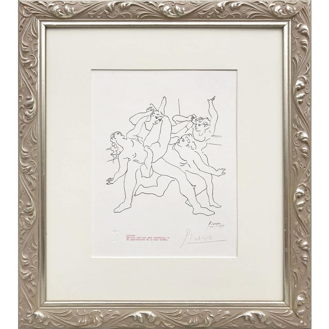 """Picasso Pencil Signed Edition Lithograph """"Four Dancers"""" 1969 For Sale"""