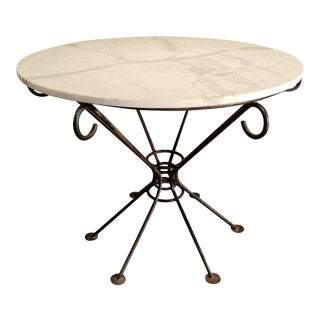 Mid 20th Century Wrought Iron Table For Sale