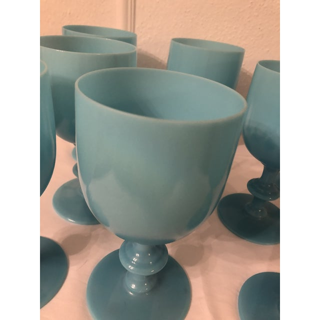 Early 20th Century Portieux Vallerysthal Water Goblets - Set of 8 For Sale - Image 5 of 7