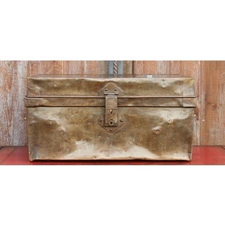 Mid 20th Century Brass Traveling Trunk Preview
