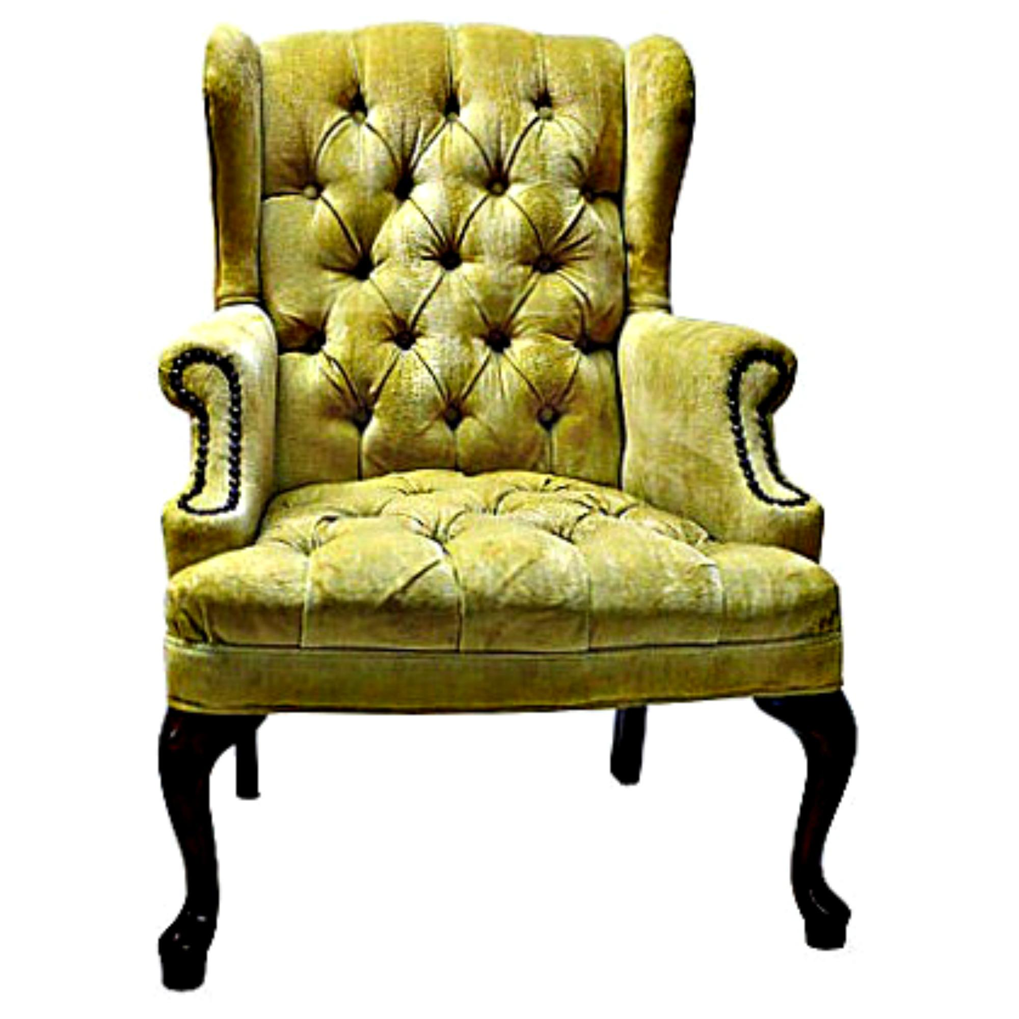 Petite Tufted Wingback Chair
