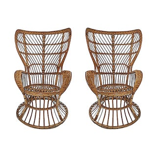 Wingback Chairs by Lio Carminati, Pair For Sale