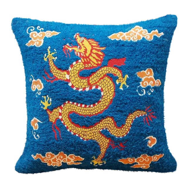 Asian Style Sea Dragon Pillow For Sale