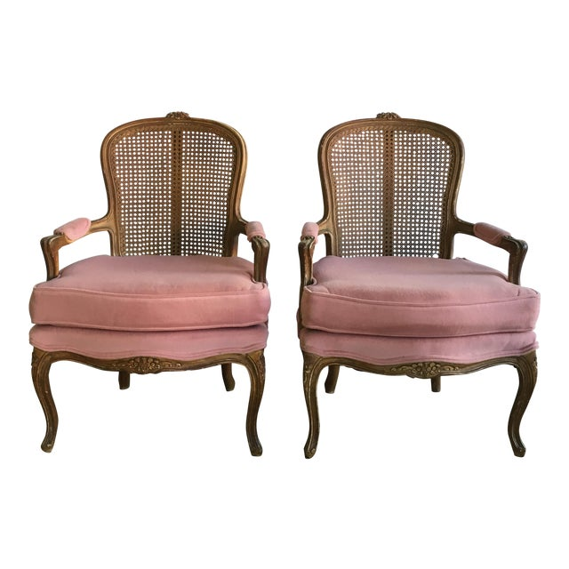 Vintage Fence Cain Bergere Chairs - A Pair - Image 1 of 5