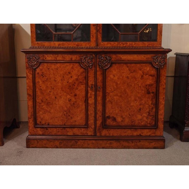 Antique English Bookcase For Sale In New Orleans - Image 6 of 10