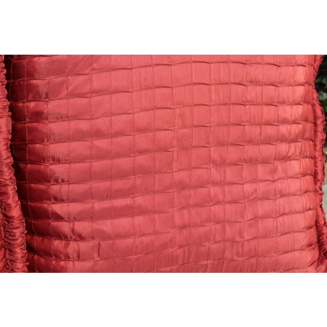 Contemporary Pr. Of Contemporary Ox Blood Colored Down Filled Pillows For Sale - Image 3 of 5