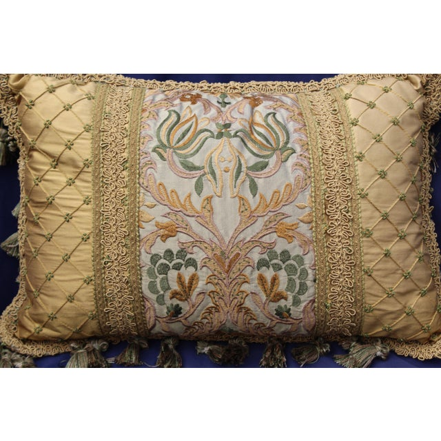 19 c. Italian chair cushion with antique fabric