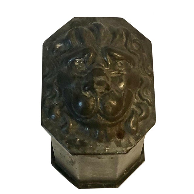 French Antique French Lion Head Box For Sale - Image 3 of 6