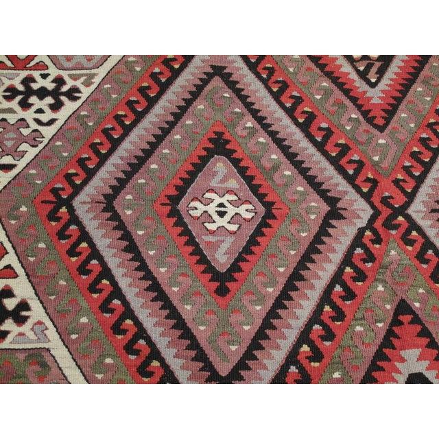 1950s Fethiye Kilim For Sale - Image 5 of 6