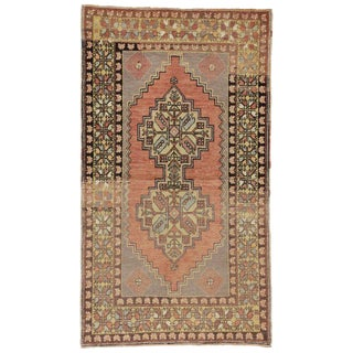 20th Century Turkish Oushak Accent Rug - 3′7″ × 6′3″ For Sale