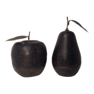 Apple & Pear Decor - A Pair For Sale