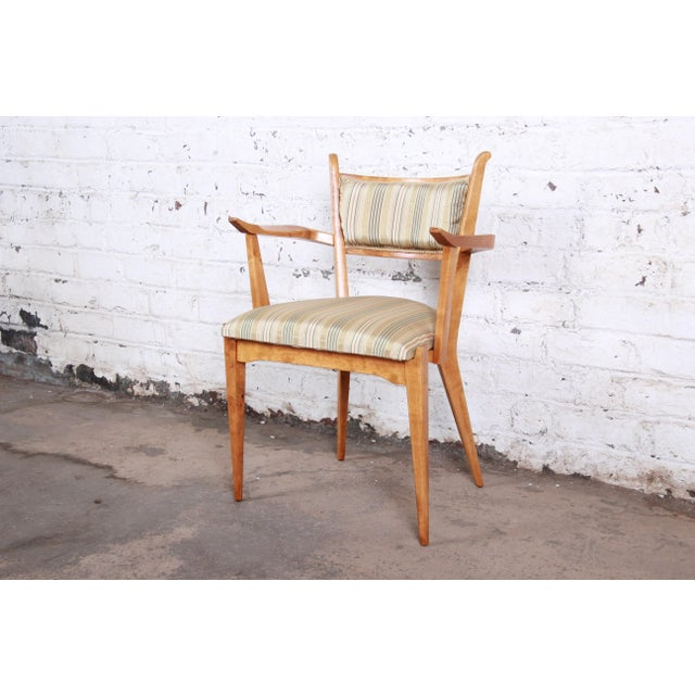 Brown Edmond Spence Swedish Modern Sculpted Tiger Maple Armchairs - a Pair For Sale - Image 8 of 13