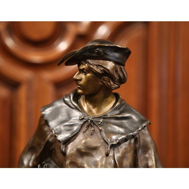 """19th Century French Patinated Bronze Figure """"L'escholier"""" Signed Emile Picault For Sale In Dallas - Image 6 of 10"""