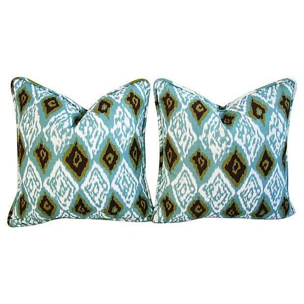 Custom Eaton Square Firebird Linen Pillows - a Pair - Image 7 of 7