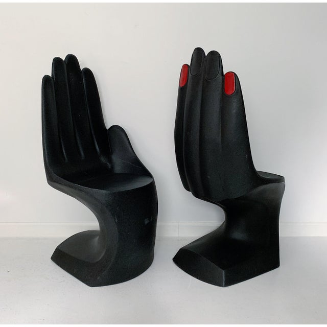 Plastic Vintage European Touch Hand Chairs - a Pair For Sale - Image 7 of 7