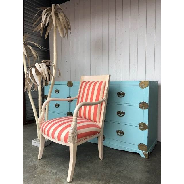 Tiffany Blue Antique Korean Dresser Campaign in Tiffany Blue For Sale - Image 8 of 12