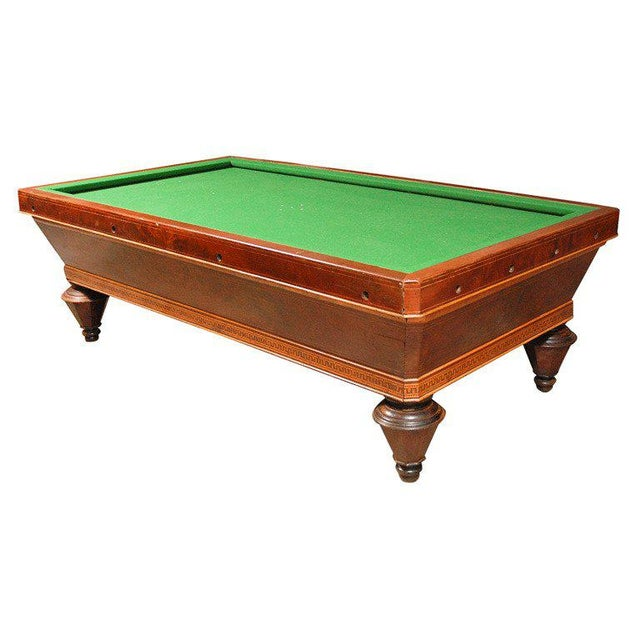 1860s Italian Carom Mahogany Billiard Table With Inlay For Sale - Image 12 of 12
