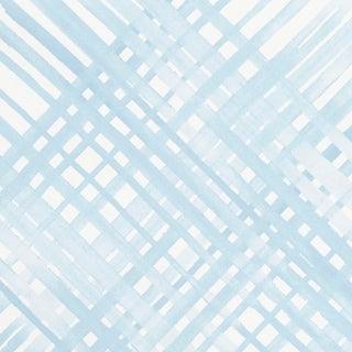 Sample - Schumacher Traverse Wallpaper in Sky For Sale