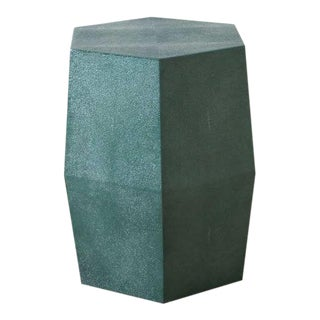 Modern Davion Hex Teal Stool For Sale