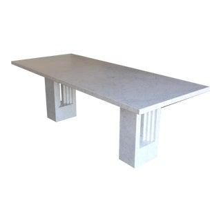 1970s Mid-Century Modern Carlo Scarpa & Marcel Breuer 'Delfi' Marble Table
