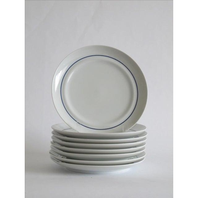 German Blue & White Dessert Plates - Set of 8 - Image 3 of 6