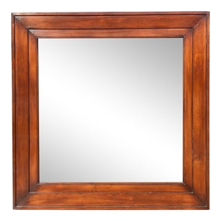 Vintage Ralph Lauren Designer Mahogany Mirror With Antiqued Mirror For Sale