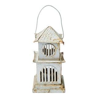 Madcap Cottage Pagoda-Shaped Tin Lantern For Sale