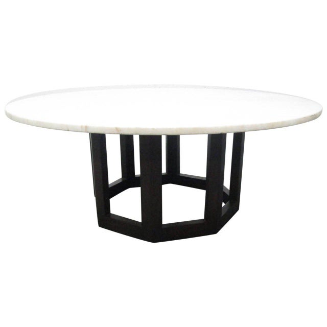 White Marble Top Coffee Table For Sale - Image 8 of 8