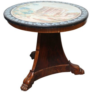 Fine Scagliola Centre Table For Sale