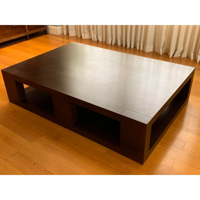 Christian Liaigre Contemporary Walnut Coffee Table For Sale In Chicago - Image 6 of 13