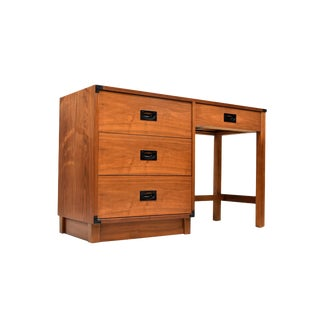 Mid Century Campaign Style Desk by Drexel For Sale