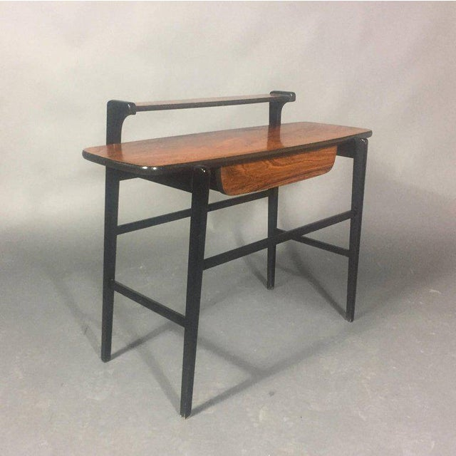 1970s Pair of Italian 1970s Rosewood End Tables For Sale - Image 5 of 11